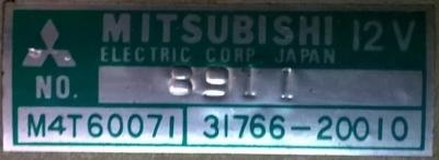 Mitsubishi M4T60071 31766-20010